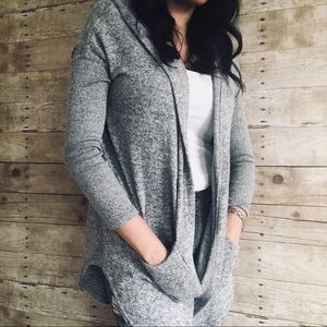 Out From Under Grey Hooded Cardigan